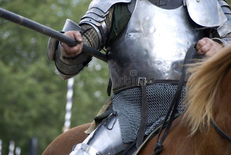Lancia del cavaliere immagini stock libere da diritti