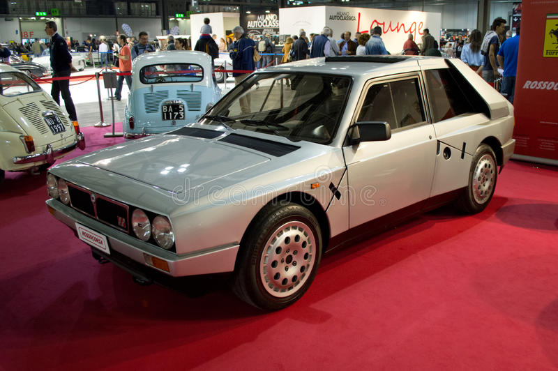 Lancia Delta S4 Milano Autoclassica 2014 royalty free stock photos