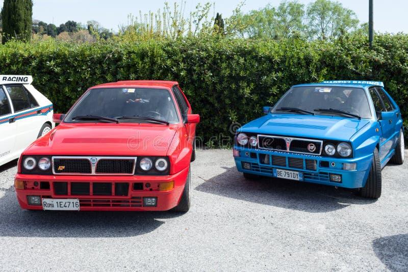 Lancia delty HF całki samochody obrazy royalty free