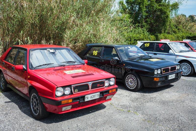 Lancia delty rocznika samochody fotografia royalty free