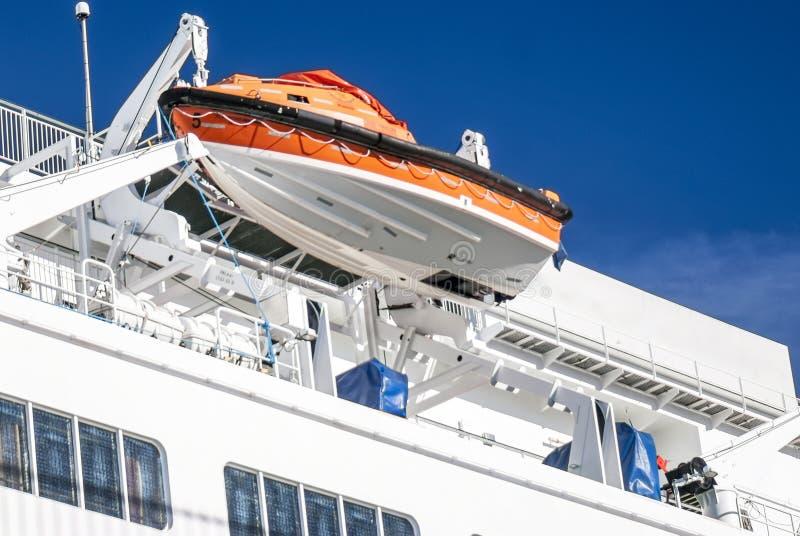 Lancia di salvataggio o barca di sicurezza immagini stock libere da diritti