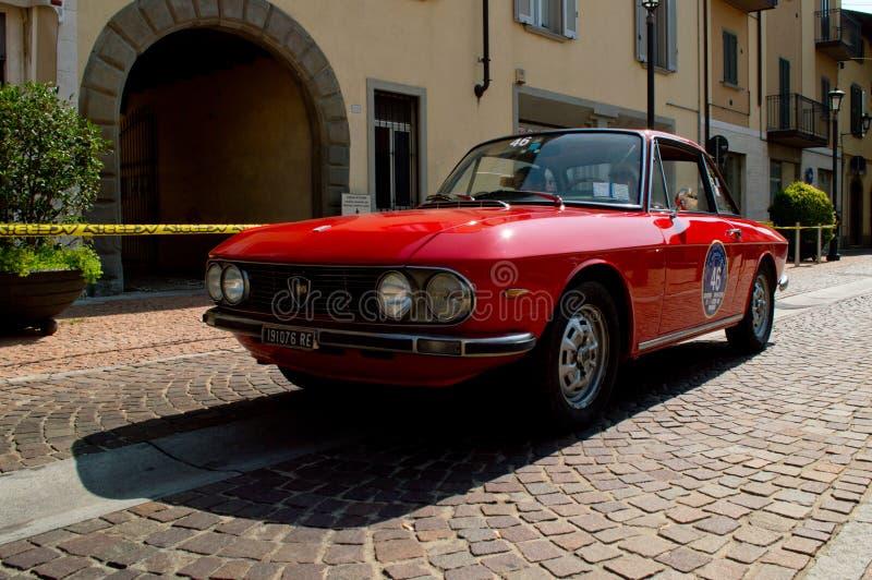 Lancia Fulvia at circuito di Zingonia 2014 royalty free stock photography