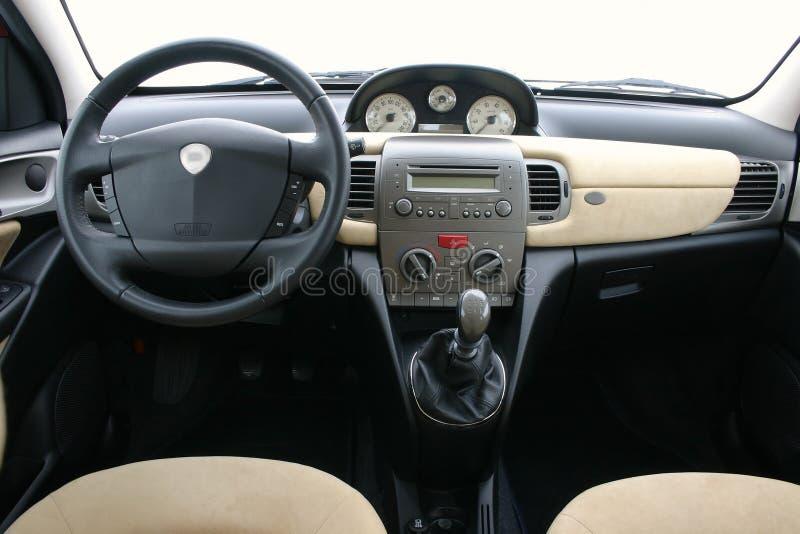 Lancia Y (ypsilon) interior. Interior of small stylish italian car Lancia Ypsilon royalty free stock photography