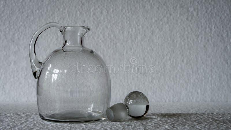 Lanciatore del vetro trasparente fotografia stock libera da diritti