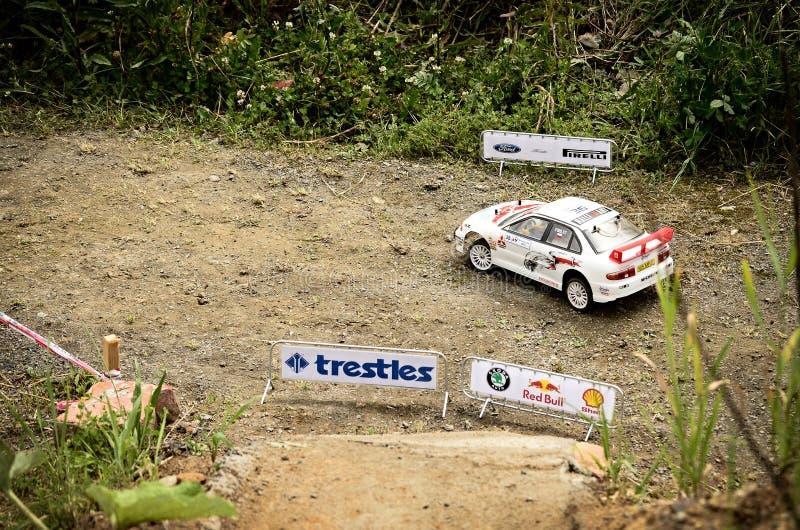 Lancier EVO de mitsubishi de voiture de rassemblement de Rc images stock