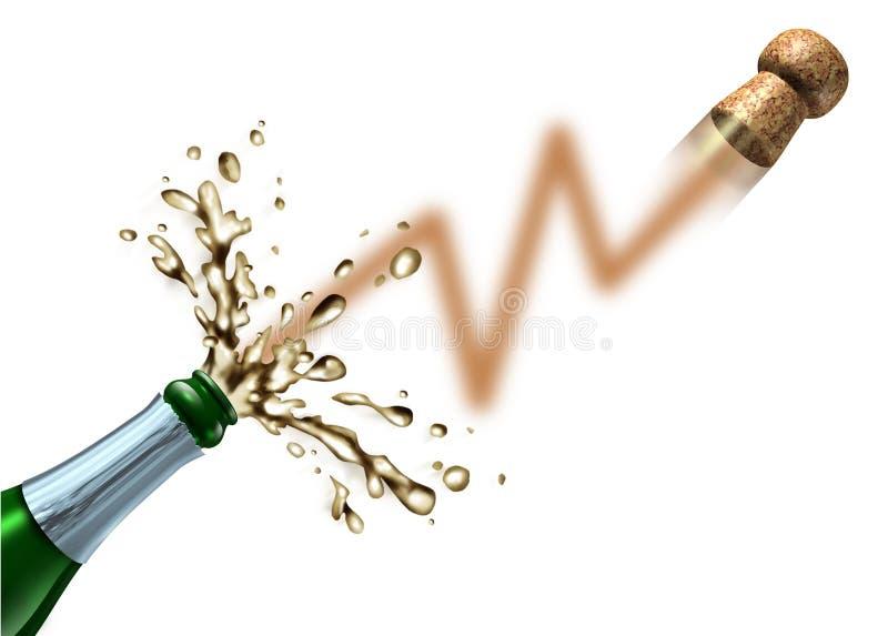 Lancio del mercato azionario illustrazione di stock