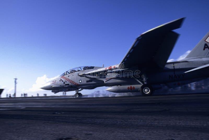Lancio del Tomcat F-14 immagine stock