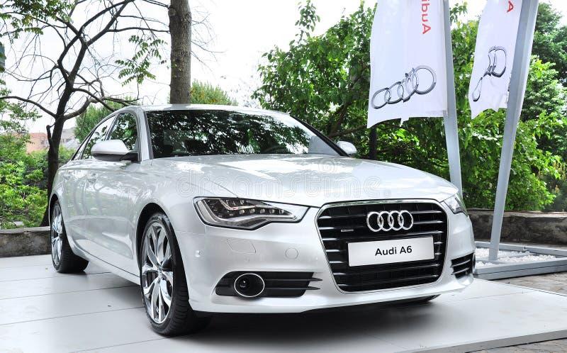 Lancio della stampa di Audi A6 nel amire di tophane-i che costruisce Costantinopoli fotografia stock libera da diritti