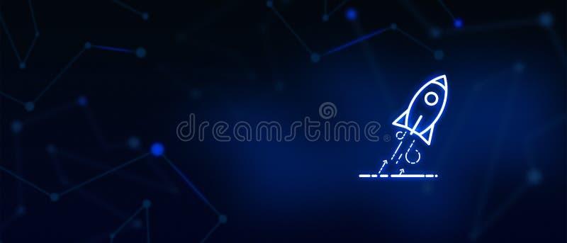 Lancio di Rocket, partenza, occasione d'affari, scopo, obiettivo, aspirazione, concetto di successo, decollante, crescita, risult immagine stock libera da diritti
