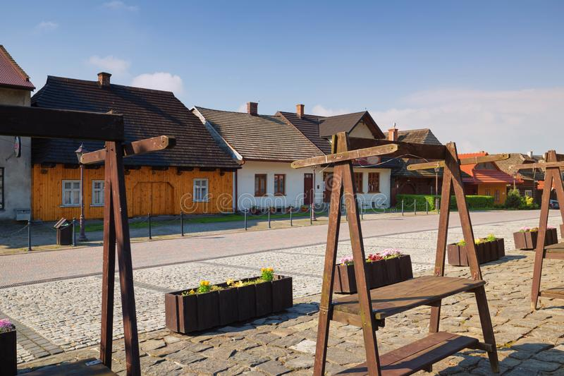 Lanckorona old village in Poland stock photo