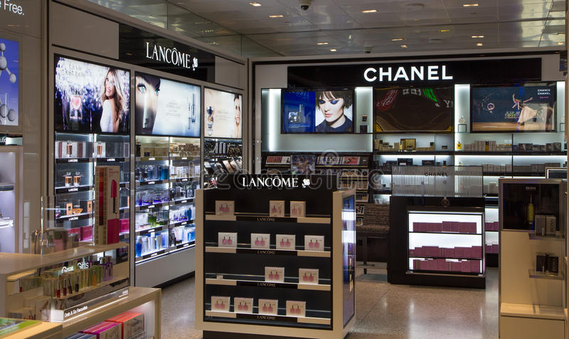 Lancome and chanel store display editorial image image for August jewelry store los angeles