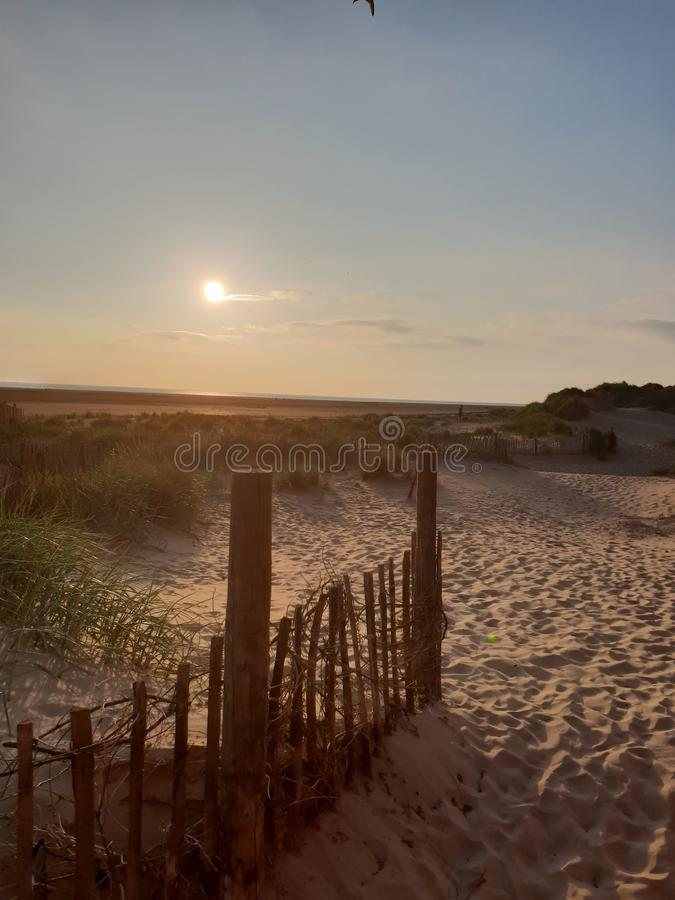 Lancs della spiaggia di Lytham fotografie stock