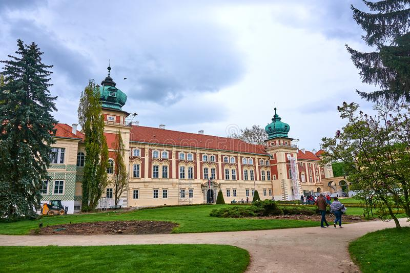 LANCUT, POLAND - MAY 4, 2019: Castle - historically the residenc royalty free stock photography