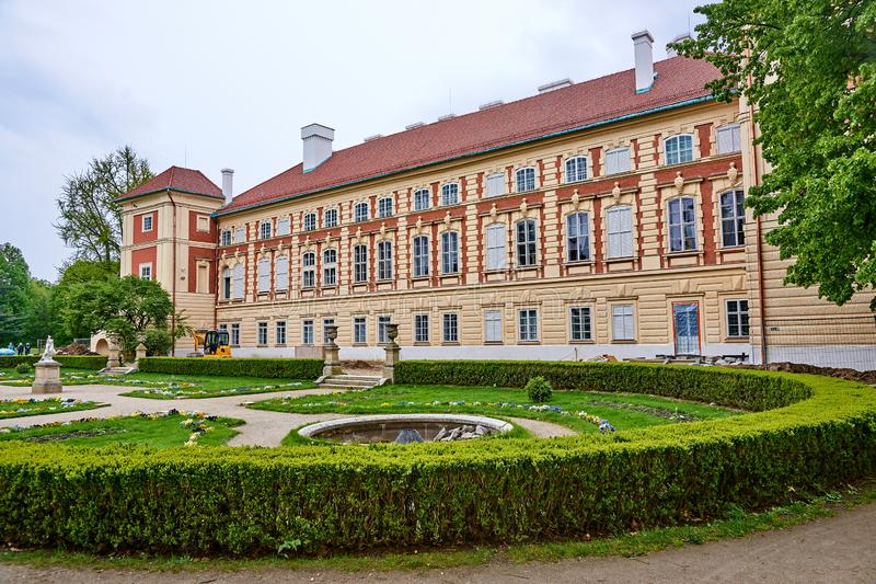 LANCUT, POLAND - MAY 4, 2019: Castle - historically the residenc royalty free stock image