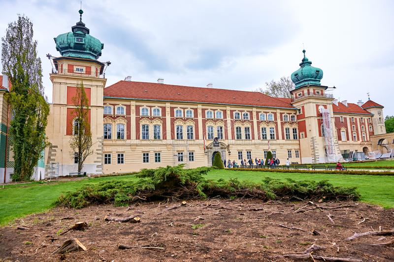 LANCUT, POLAND - MAY 4, 2019: Castle - historically the residenc stock photo
