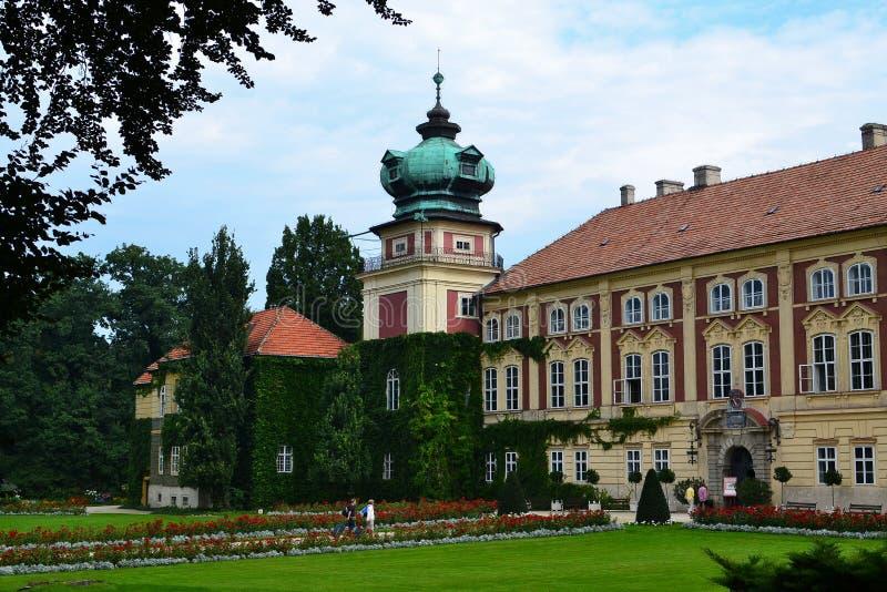 Lancut Schloss (Polen) lizenzfreie stockfotos
