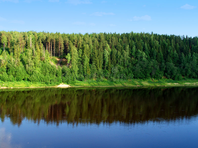 Land 1 van de rivier royalty-vrije stock afbeelding