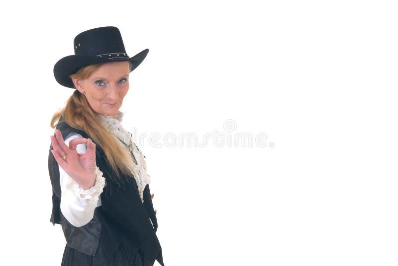 Land & Westelijke vrouw royalty-vrije stock foto