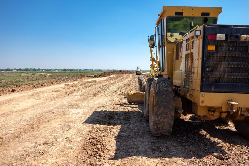 Land area adjustment and reclamation project.  royalty free stock images