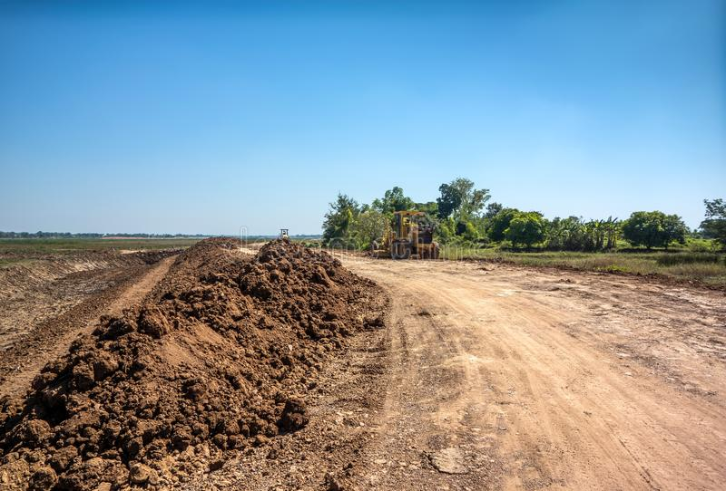 Land area adjustment and reclamation project.  royalty free stock image