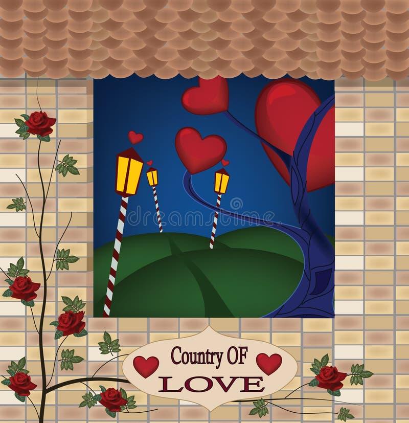 Land av förälskelse stock illustrationer