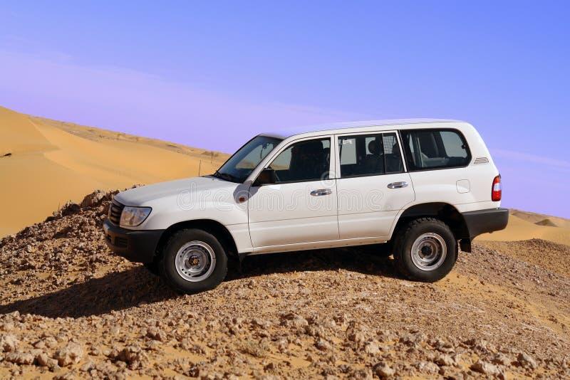 Land Cruiser in desert. stock images