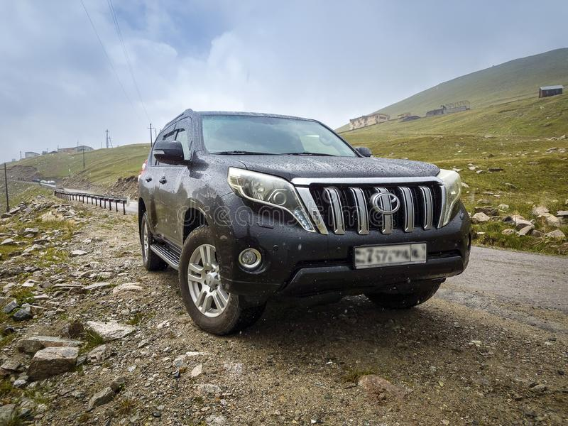 Car SUV in the mountains. royalty free stock photos