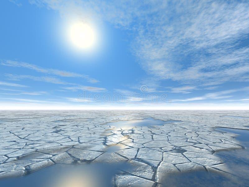 Land des Eises stockbild