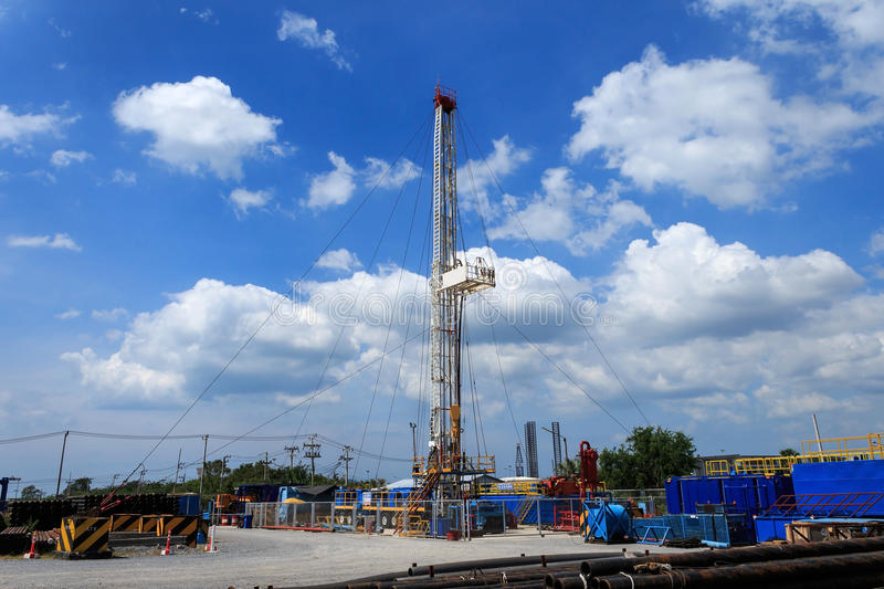 Land Drilling Rig in Yard. Petroleum Industry royalty free stock photos