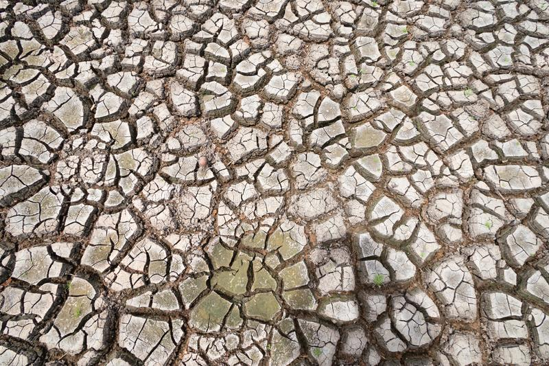 Land with dry and cracked ground because dryness global warming. Global warming background royalty free stock photos