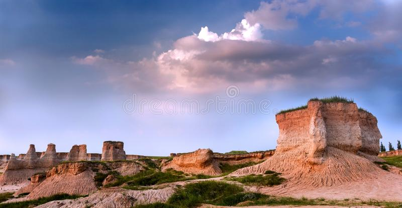 `Land Forest` Scenic spot in Shanxi Province, China. About 20 kilometers southeast of Datong City, Shanxi Province, China, there is a `land forest` scenic spot stock photos