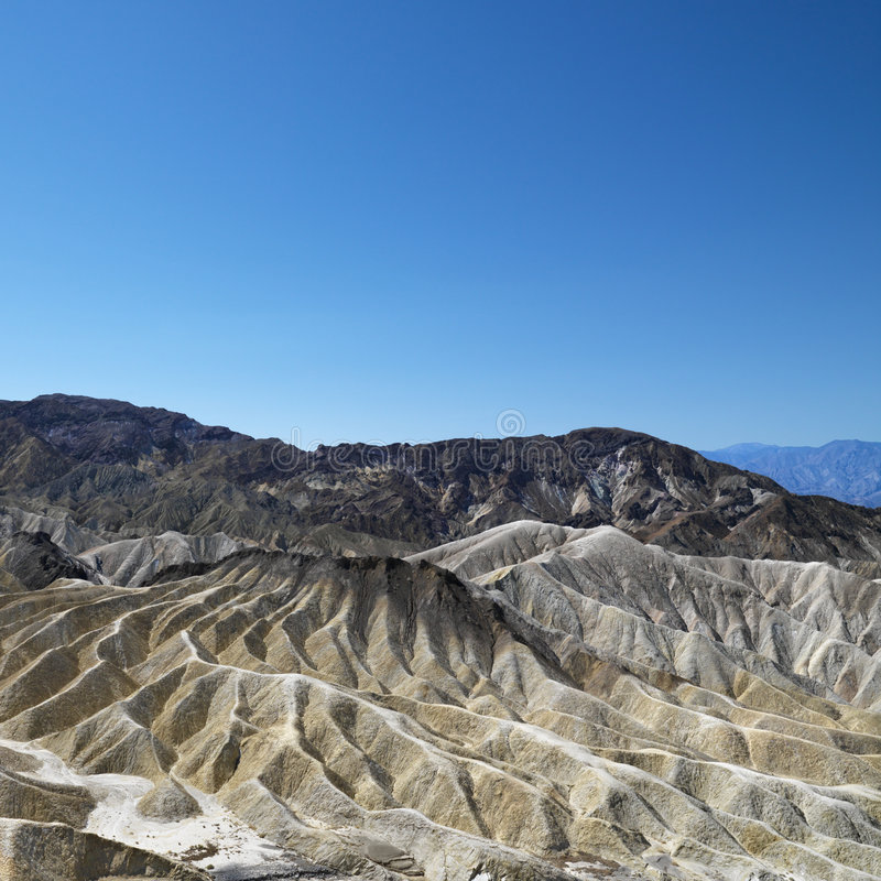 Land formations in Death Valley. stock images