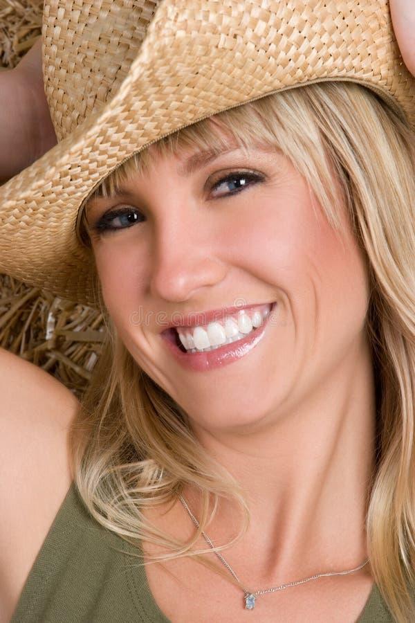 Land-Frauen-Lächeln lizenzfreies stockbild