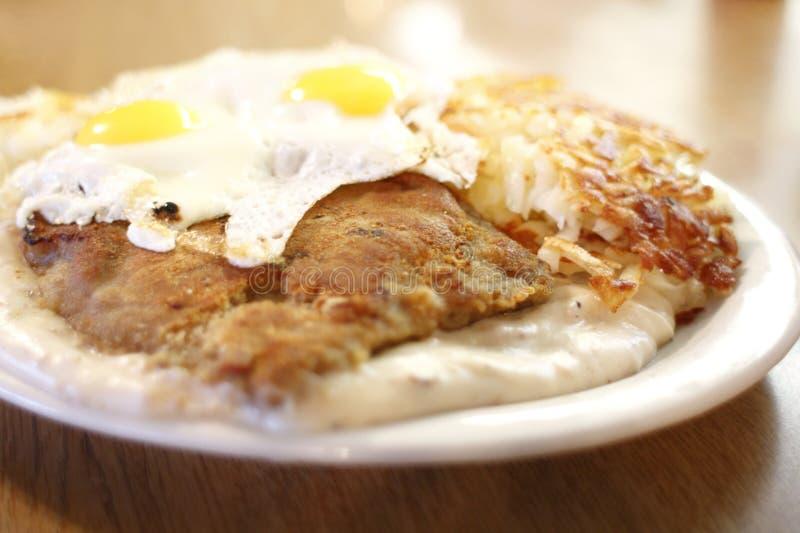 Land gebraden lapje vlees en eieren royalty-vrije stock foto