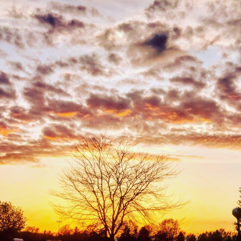 Land gemaakte zonsondergang stock afbeeldingen