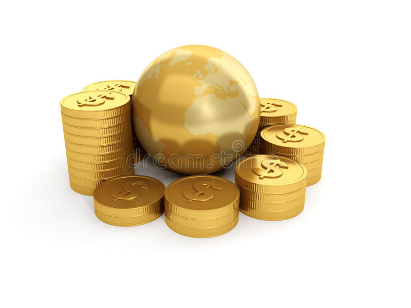 Download Land And A Group Of Gold Royalty Free Stock Photos - Image: 25944828