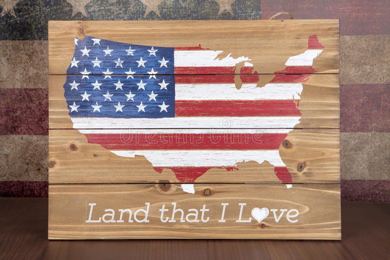 Land That I Love. A patriotic sign celebrating the United States royalty free stock photography