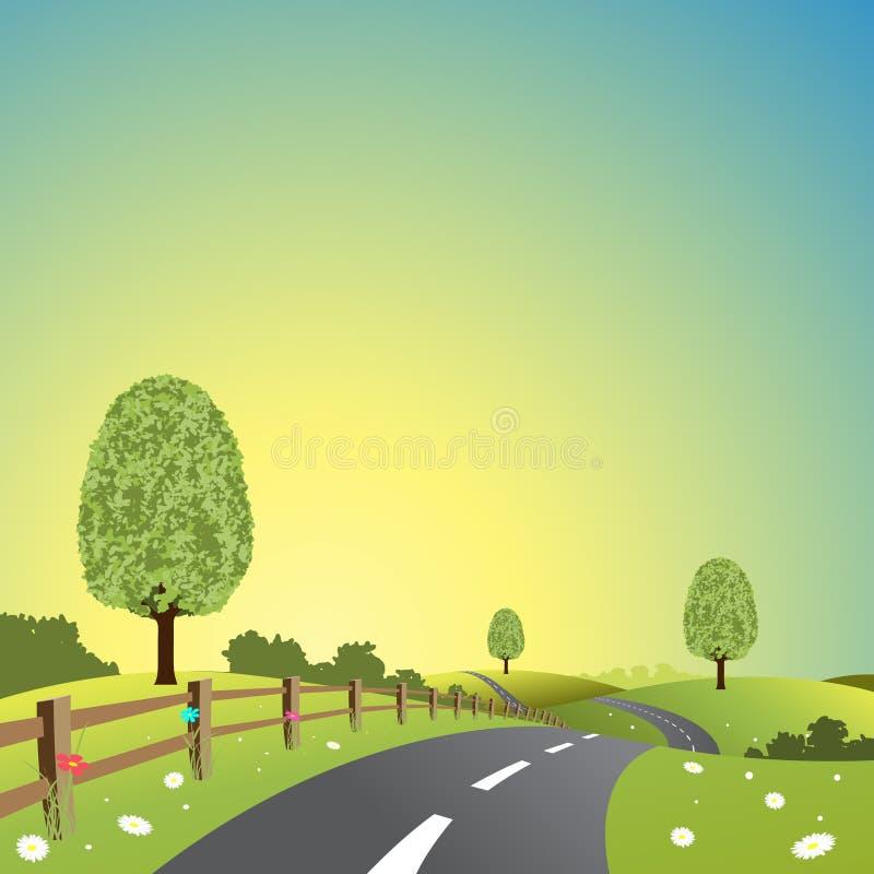 Land-Landschaft stock abbildung