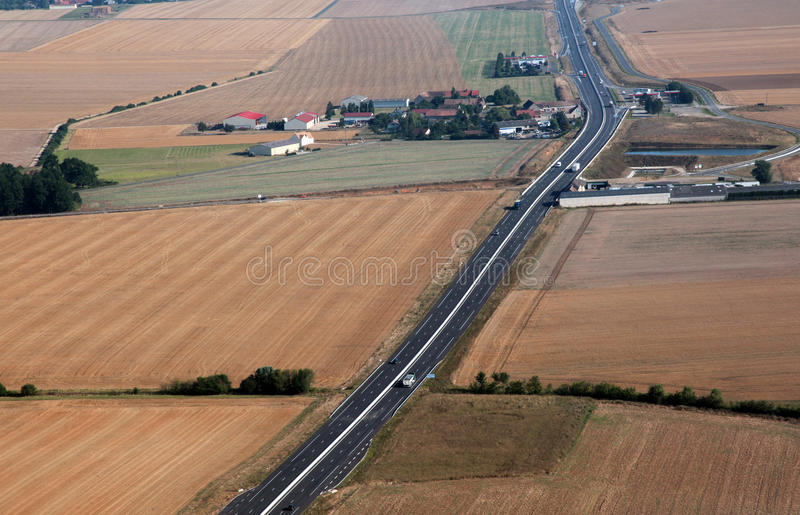 Land-Landstraße stockfotos