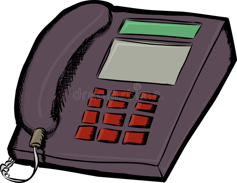 Land Line Telephone royalty free illustration