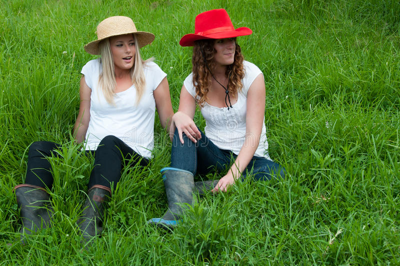 Land-Mädchen stockbild