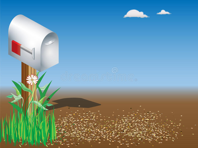 Land-Mailbox stockfoto