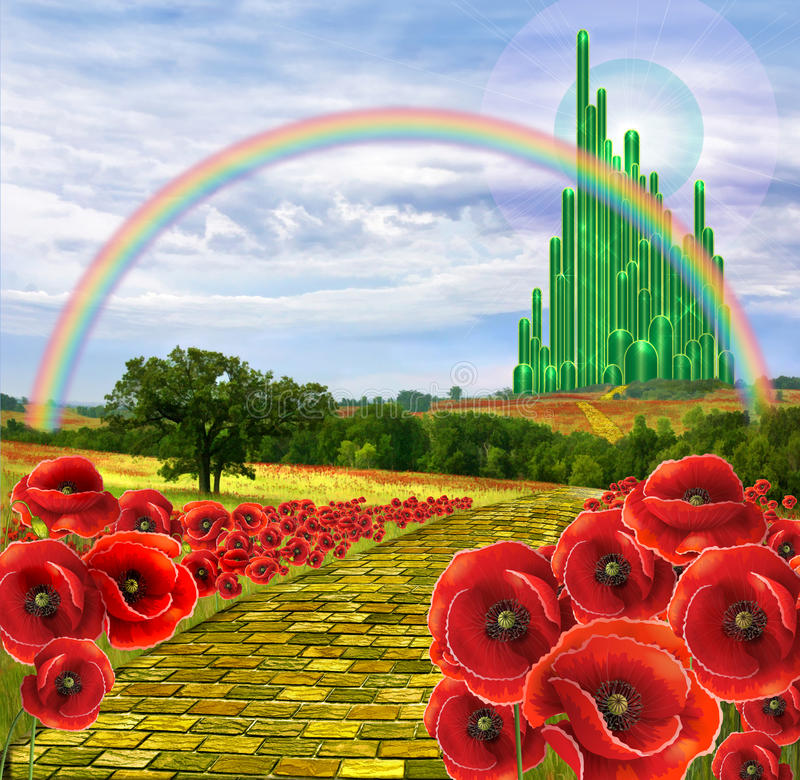 Free Land Of Oz And The Yellow Brick Road Stock Image - 52680351