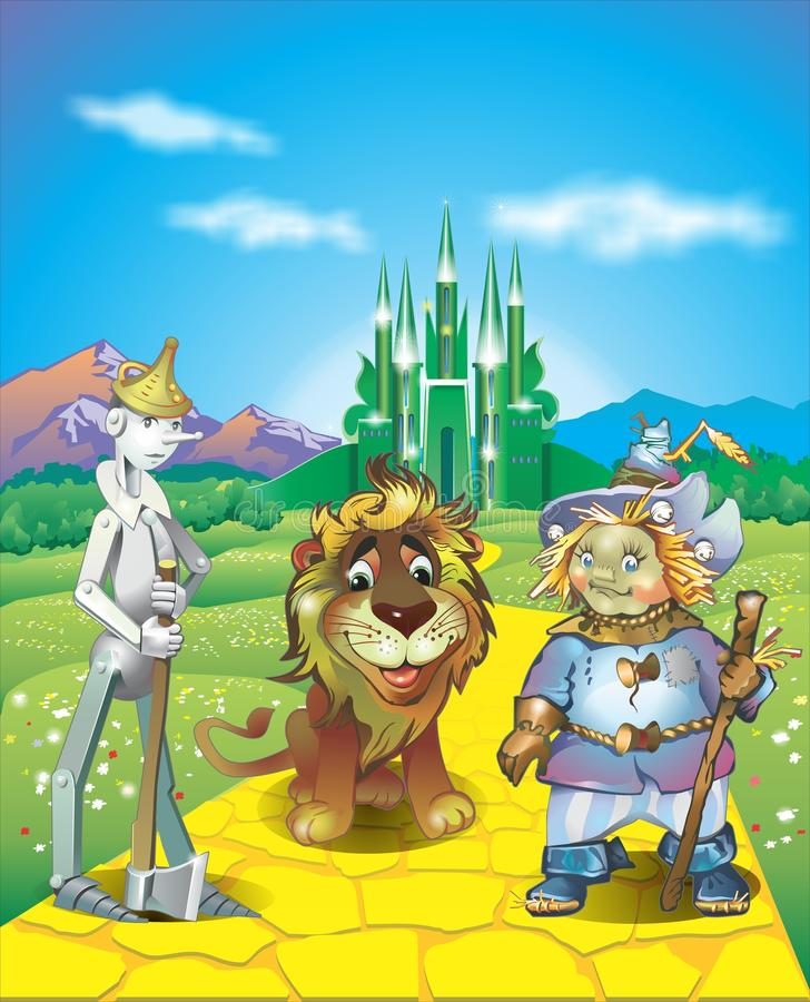 Land of Oz stock illustration