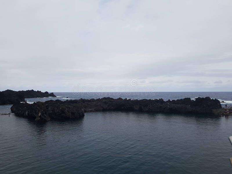 Land på havet arkivbilder