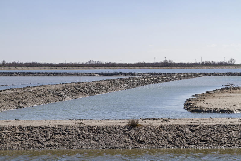 Land reclamation. In the Po Delta royalty free stock photo