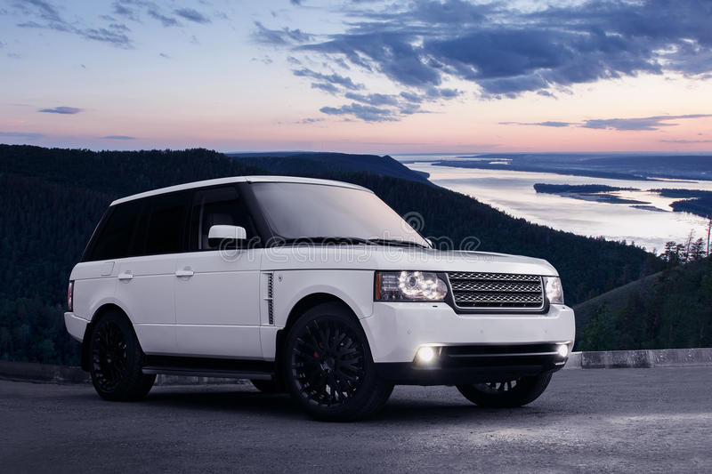 Land Rover royaltyfria bilder
