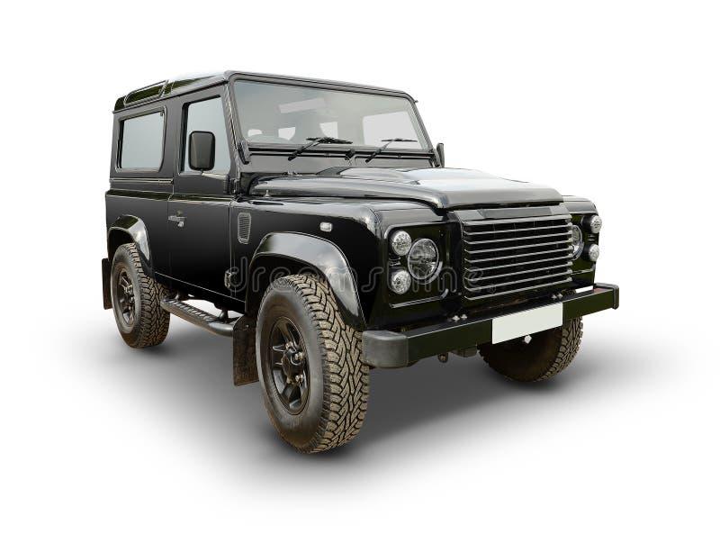 Land Rover Defender. Side profile of Land Rover Defender vehicle on white stock images