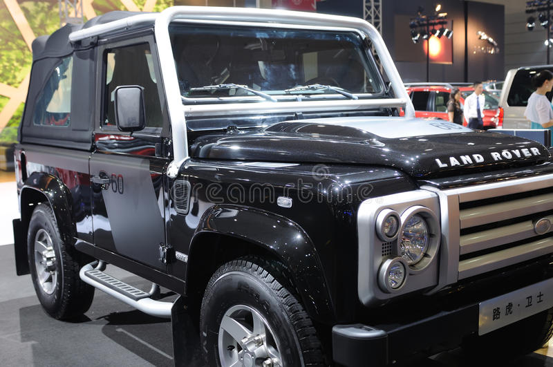 Download Land rover Defender suv editorial photography. Image of exhibitor - 18118202