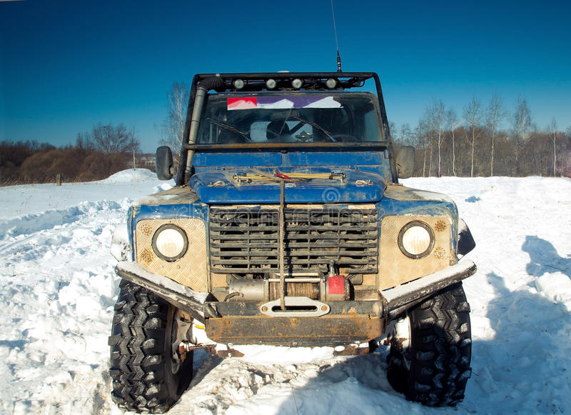 Download Land Rover Defender suv stock photo. Image of cloudy - 22801538